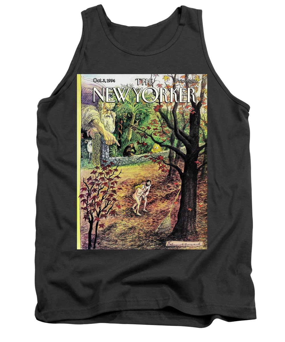 The Fall Tank Top featuring the painting New Yorker October 3rd, 1994 by Edward Sorel