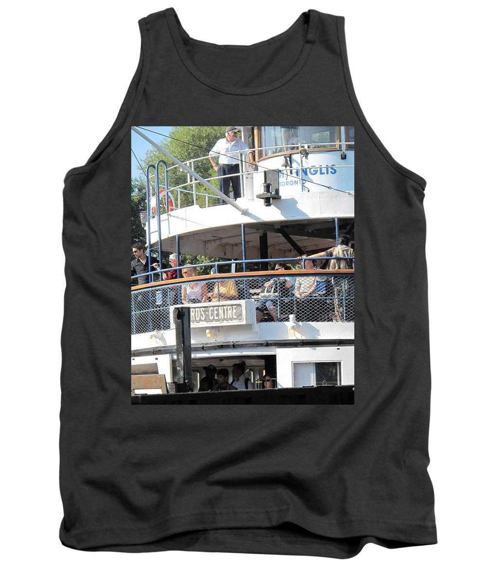 Ferry Tank Top featuring the photograph The Ferry Arrives by Ian MacDonald