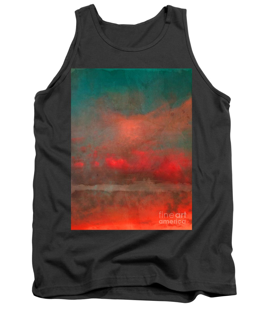 Abstract Tank Top featuring the photograph The Fire Clouds by Tara Turner