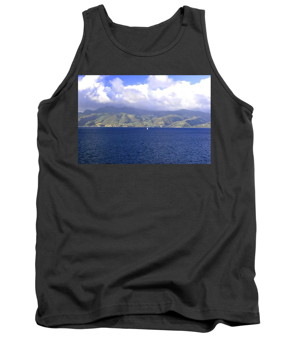 Clouds Tank Top featuring the photograph The Fog Lifts by Gary Wonning