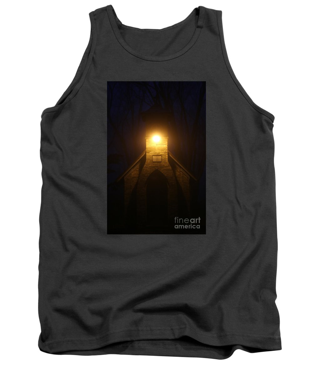 Cemetery Tank Top featuring the photograph The Foggiest Idea 2 by Eric Curtin