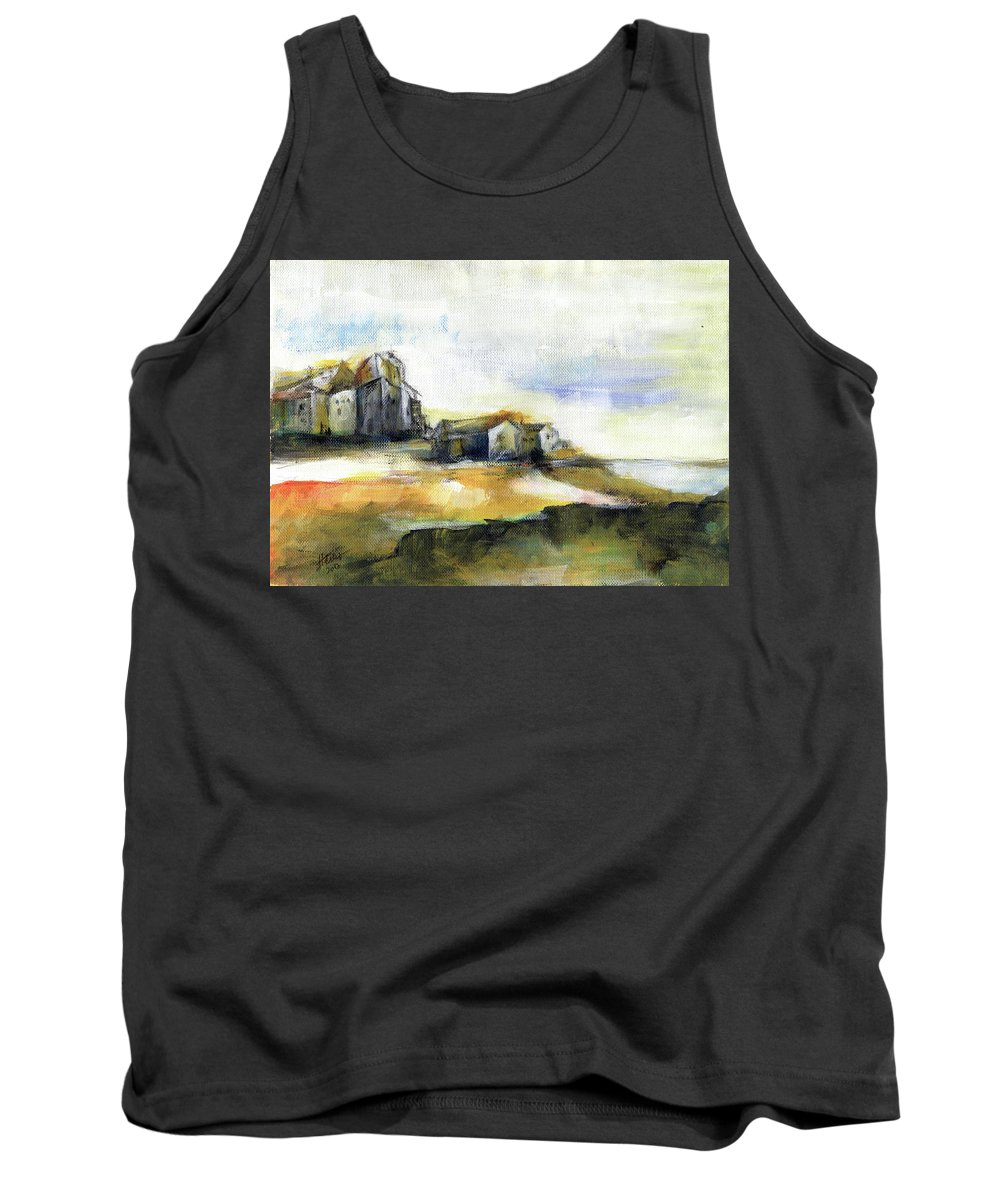 Abstract Landscape Tank Top featuring the painting The Fortress by Aniko Hencz