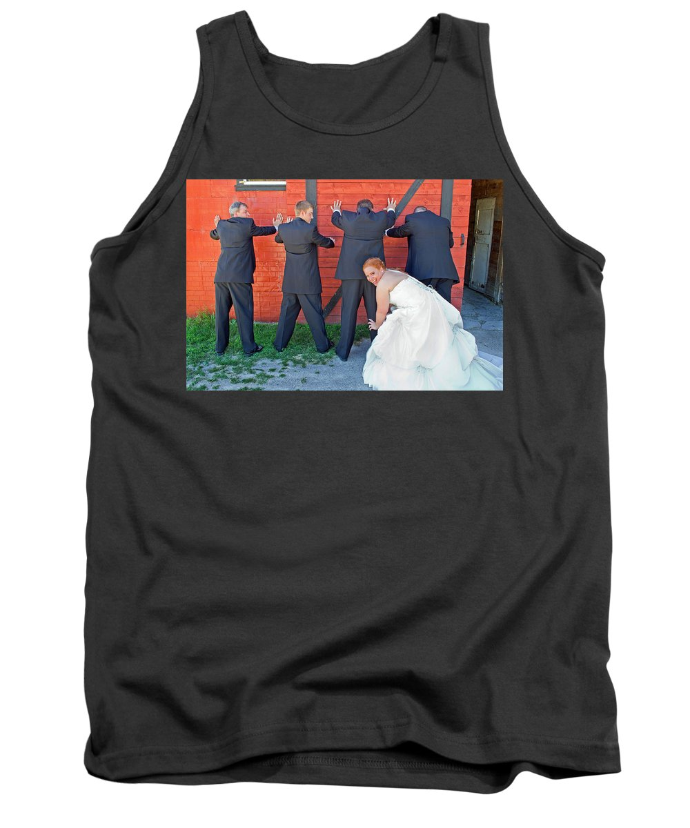 Wedding Tank Top featuring the photograph The Frisky Bride by Keith Armstrong