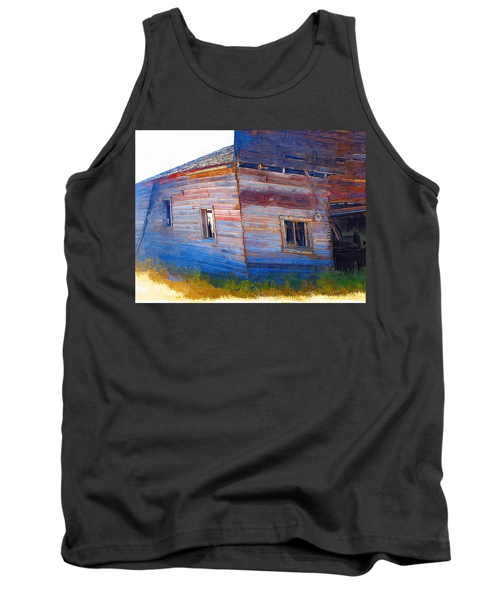 Window Tank Top featuring the photograph The Garage by Susan Kinney