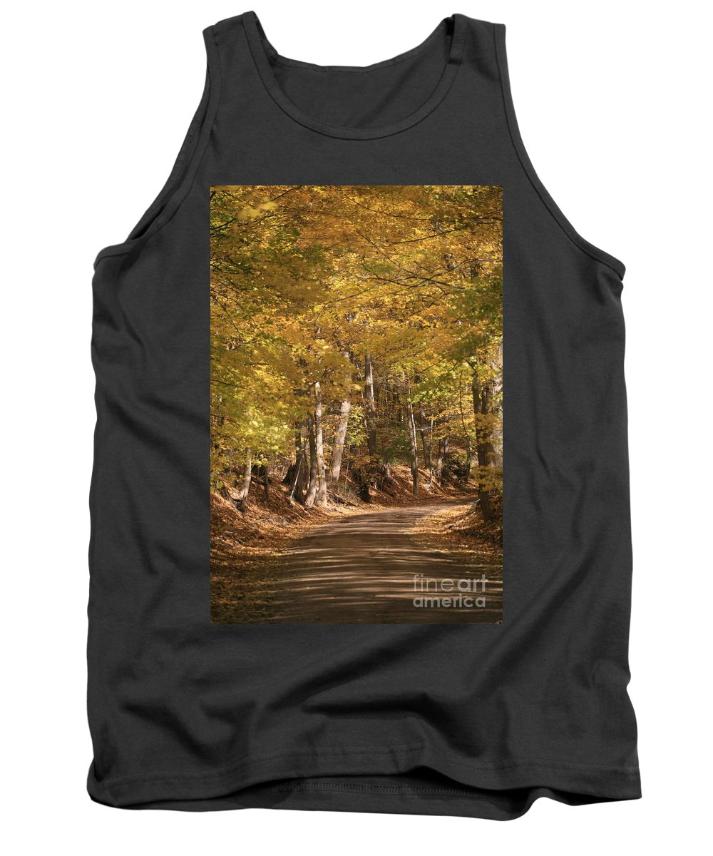 Golden Tank Top featuring the photograph The Golden Road by Robert Pearson