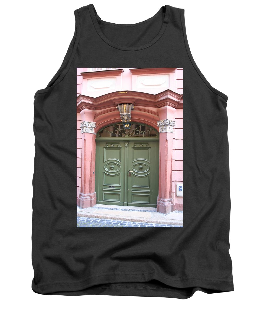 Door Tank Top featuring the photograph The Green Door by Christiane Schulze Art And Photography