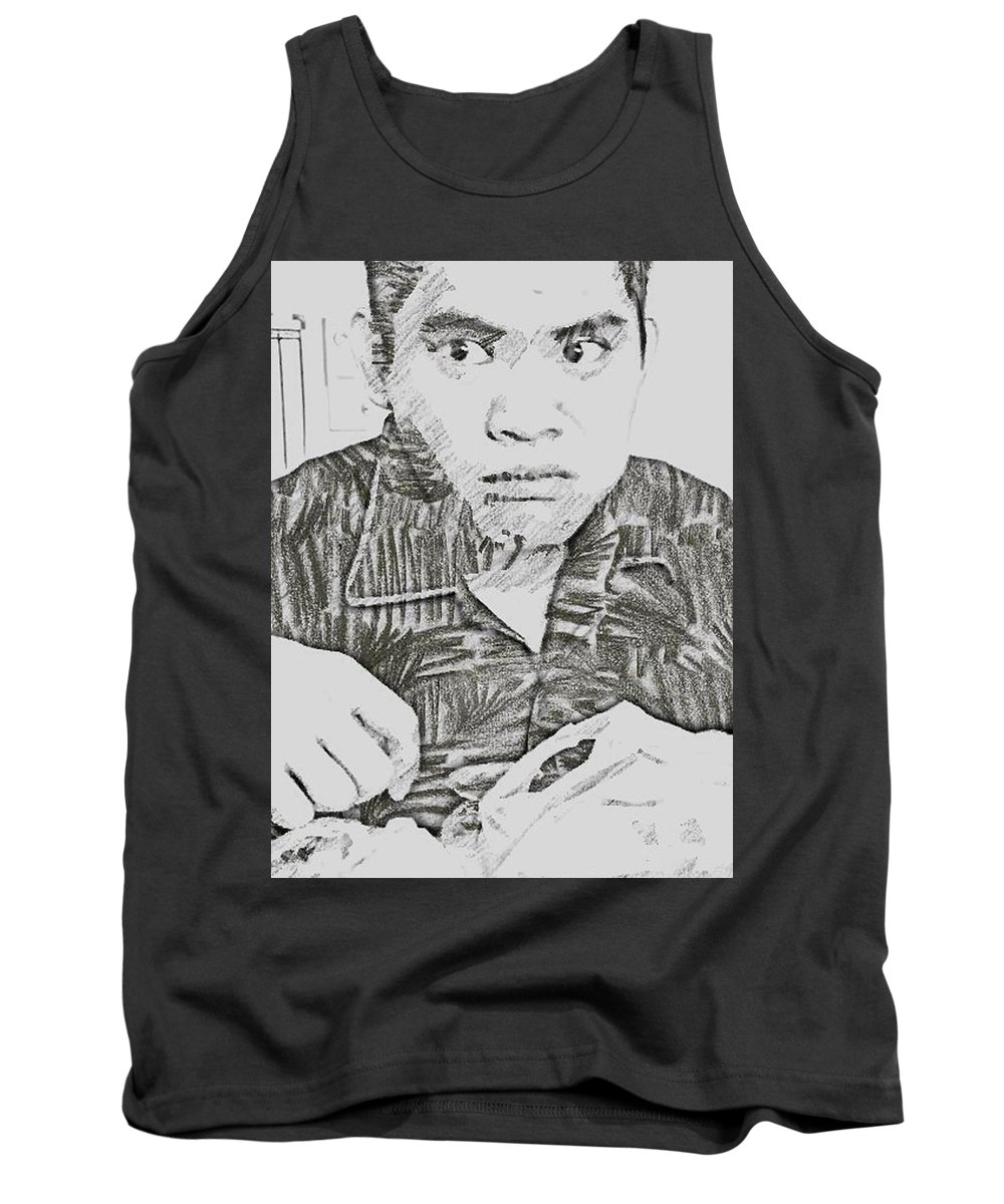 People Tank Top featuring the digital art The Grouch by Jazzielyn Chow