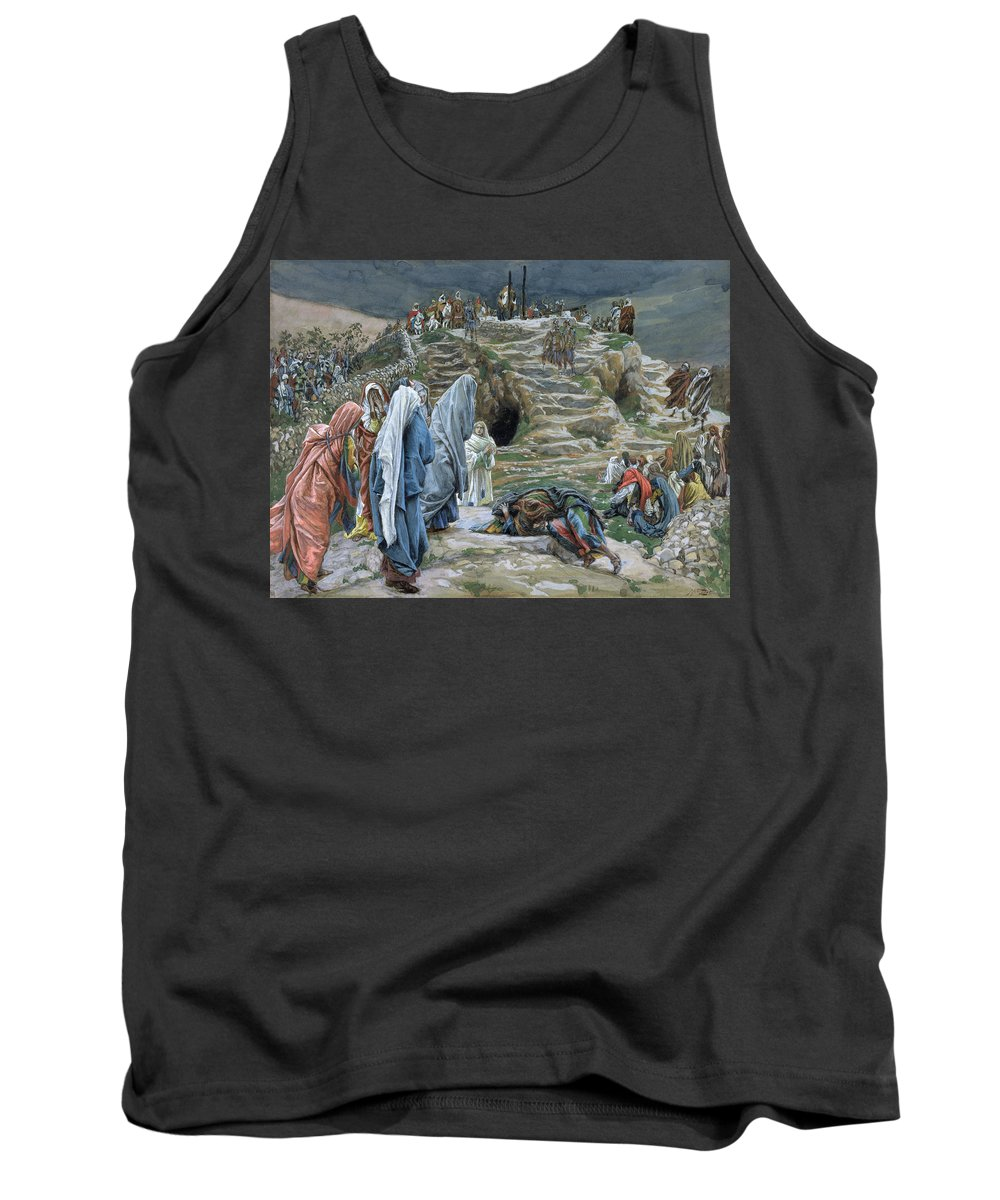 Tissot Tank Top featuring the painting The Holy Women Stand Far Off Beholding What Is Done by James Jacques Joseph Tissot