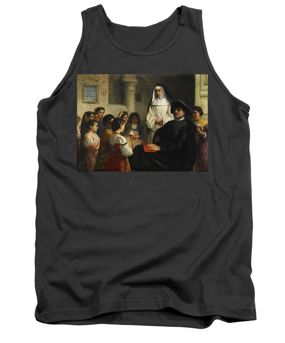 John Bagnold Burgess England The Interrogation Tank Top featuring the painting The Interrogation by MotionAge Designs