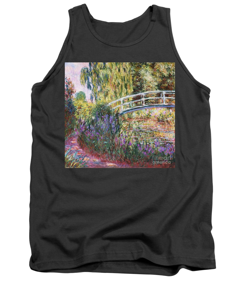 The Japanese Bridge Tank Top featuring the painting The Japanese Bridge by Claude Monet