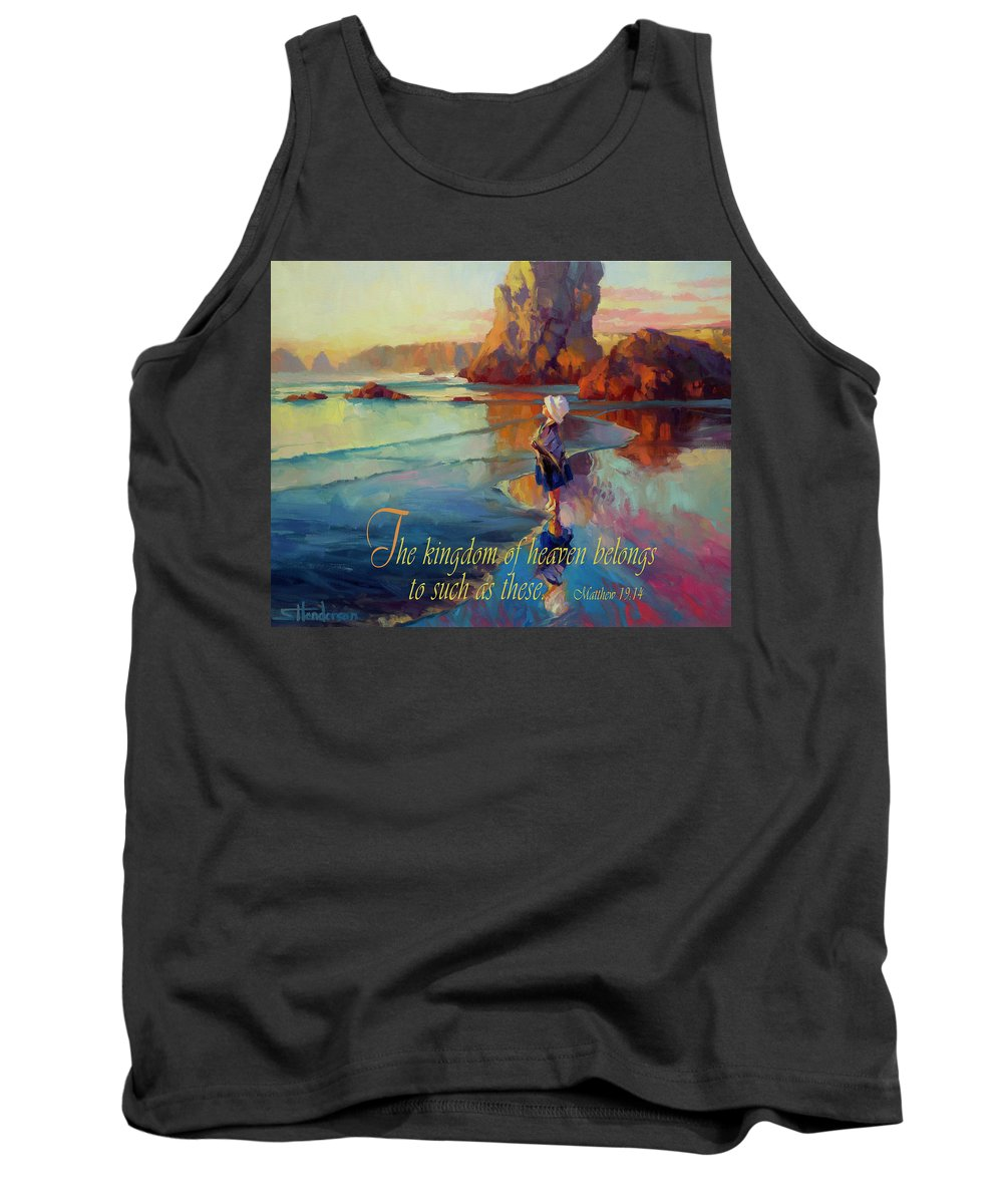 Oregon Coast Digital Art Tank Tops