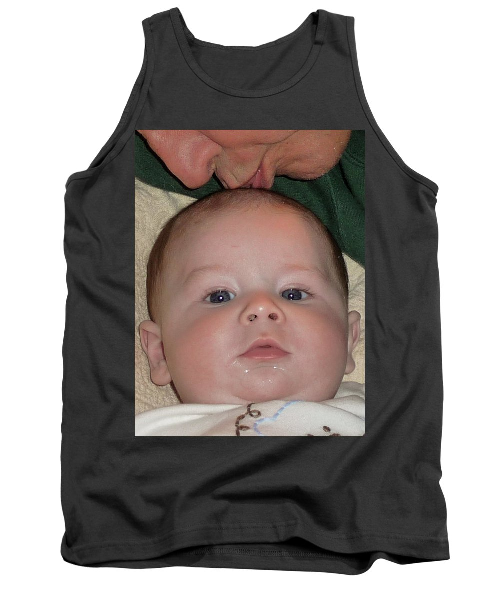 Baby Tank Top featuring the photograph The Kiss by Vm Vassolo