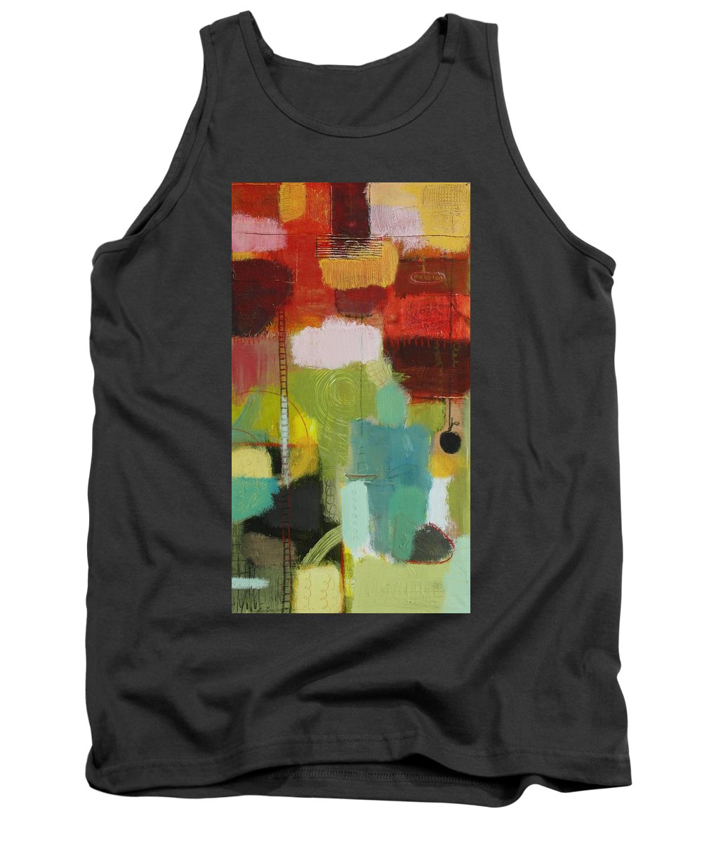 Abstract Tank Top featuring the painting The Ladder Of Life by Habib Ayat