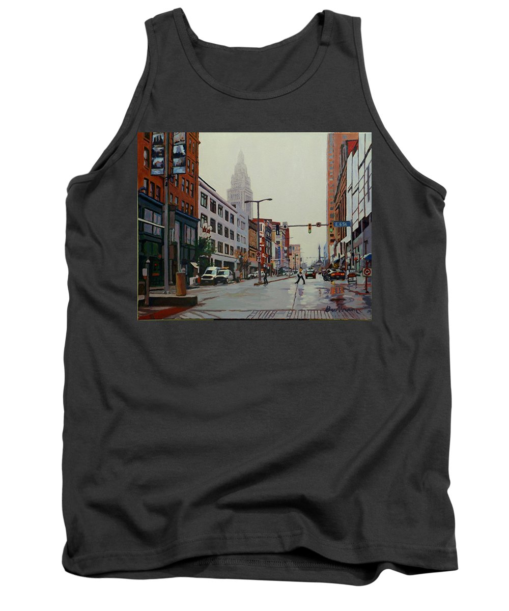 A Trip In The Inner City Tank Top featuring the painting The Land by David Buttram