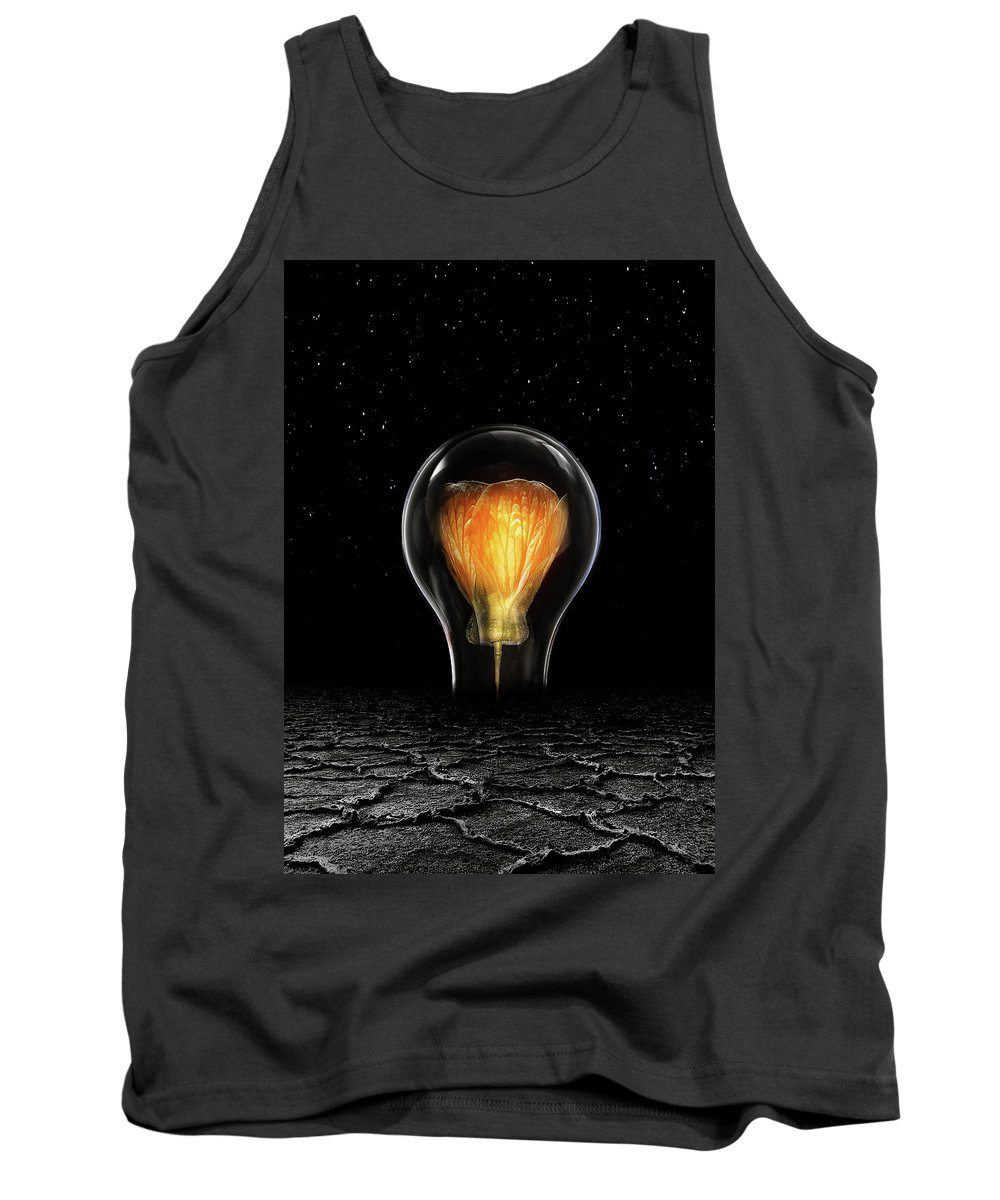 Global Warming Tank Top featuring the digital art The Last Bright Light by Jacky Gerritsen