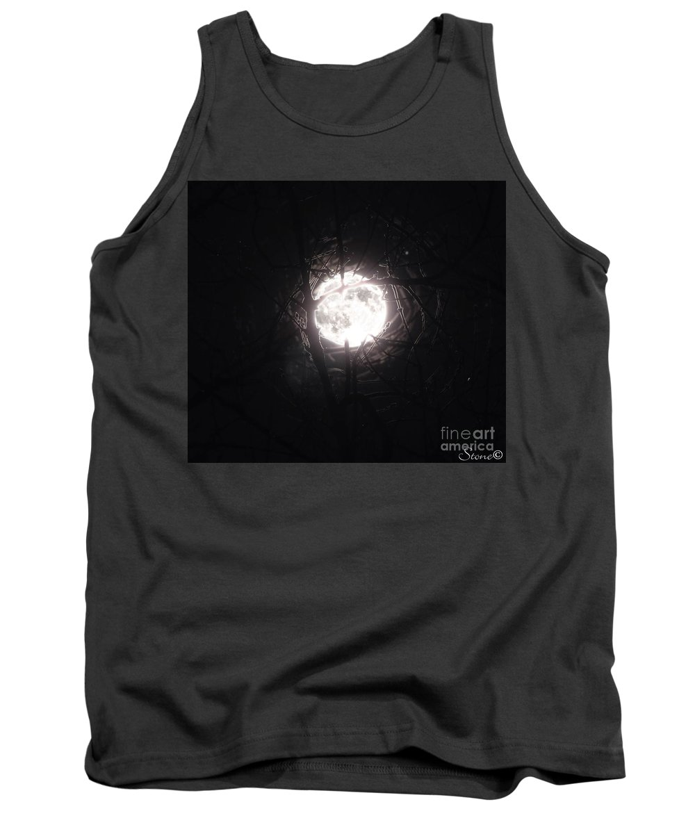 Night Tank Top featuring the photograph The Last Nights Moon by September Stone