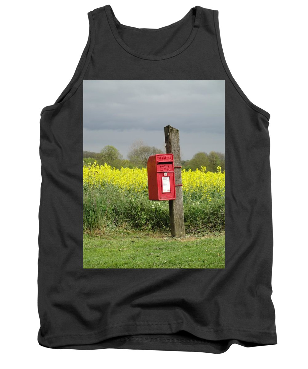 Landscape Tank Top featuring the photograph The Last Post by Susan Baker