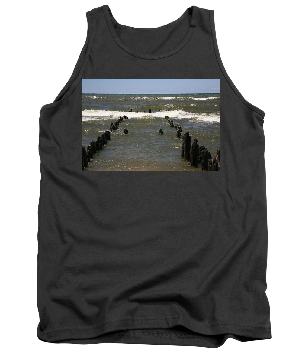 Sand Surf Tank Top featuring the photograph The Last Wooden Pier by Robert Pearson