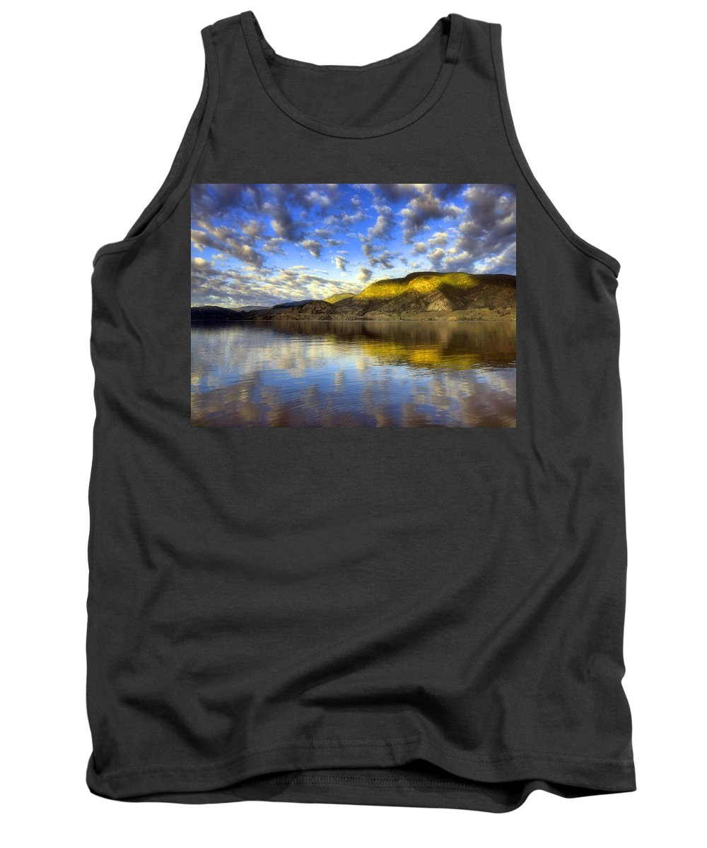 Light Tank Top featuring the photograph The Light At Skaha Lake by Tara Turner