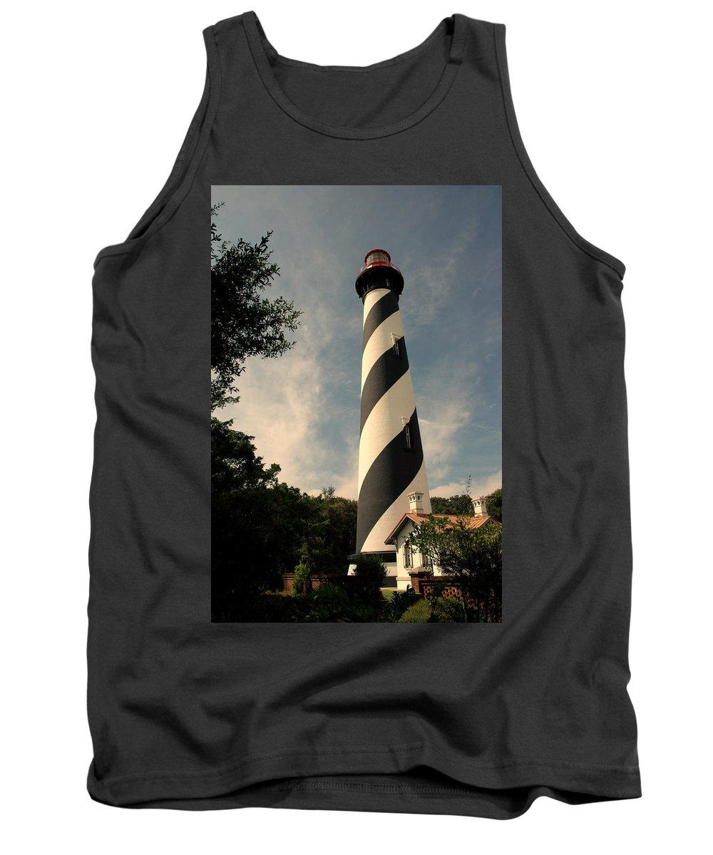 Lighthouse Tank Top featuring the photograph The Lighthouse In St.augustin Fl by Susanne Van Hulst