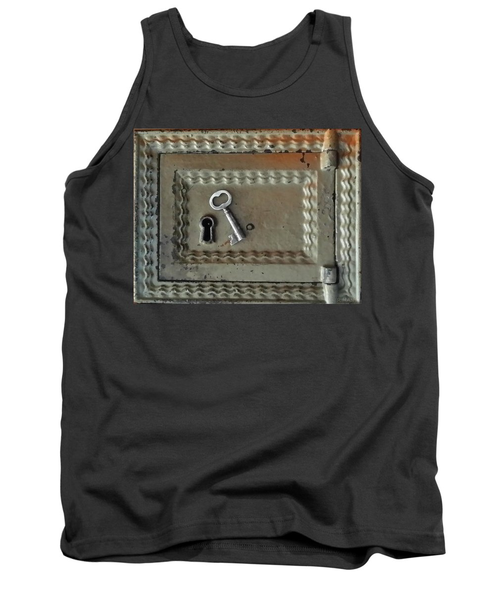 Lock Tank Top featuring the photograph The Lock Box by Rob Hans