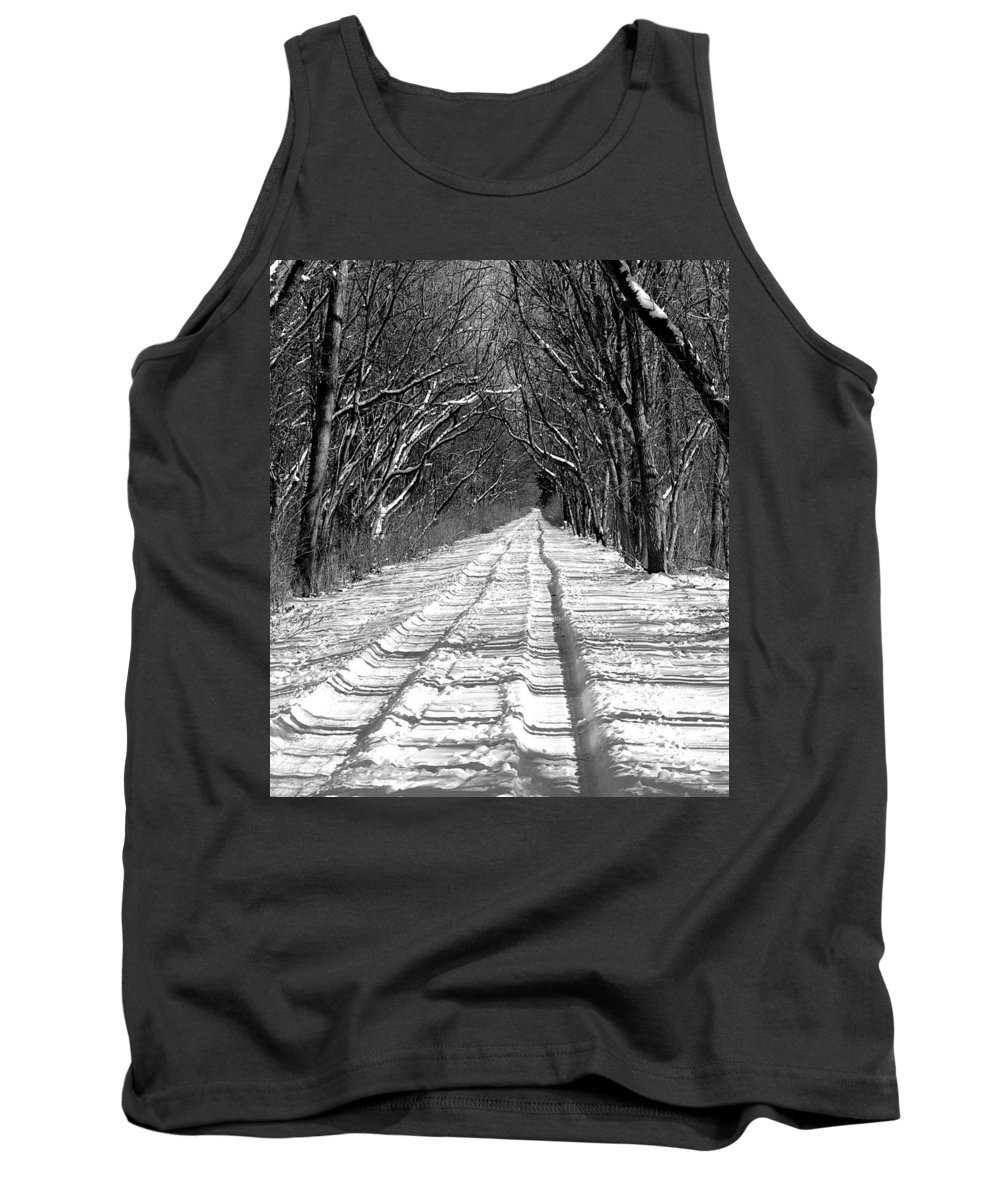 Tank Top featuring the photograph The Long Winter Walk by Jenny Gandert
