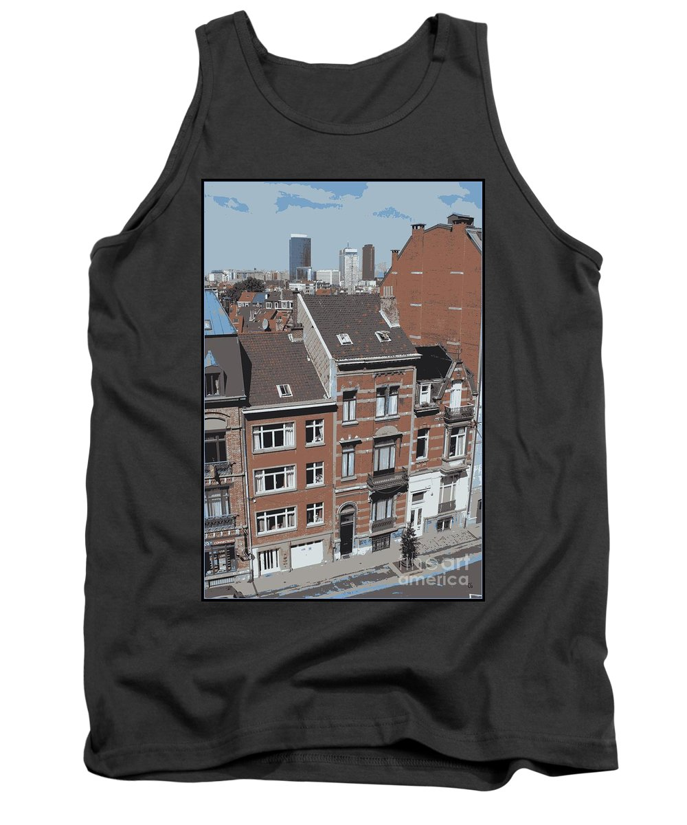 Brussels Tank Top featuring the photograph The Many Layers Of Brussels by Carol Groenen