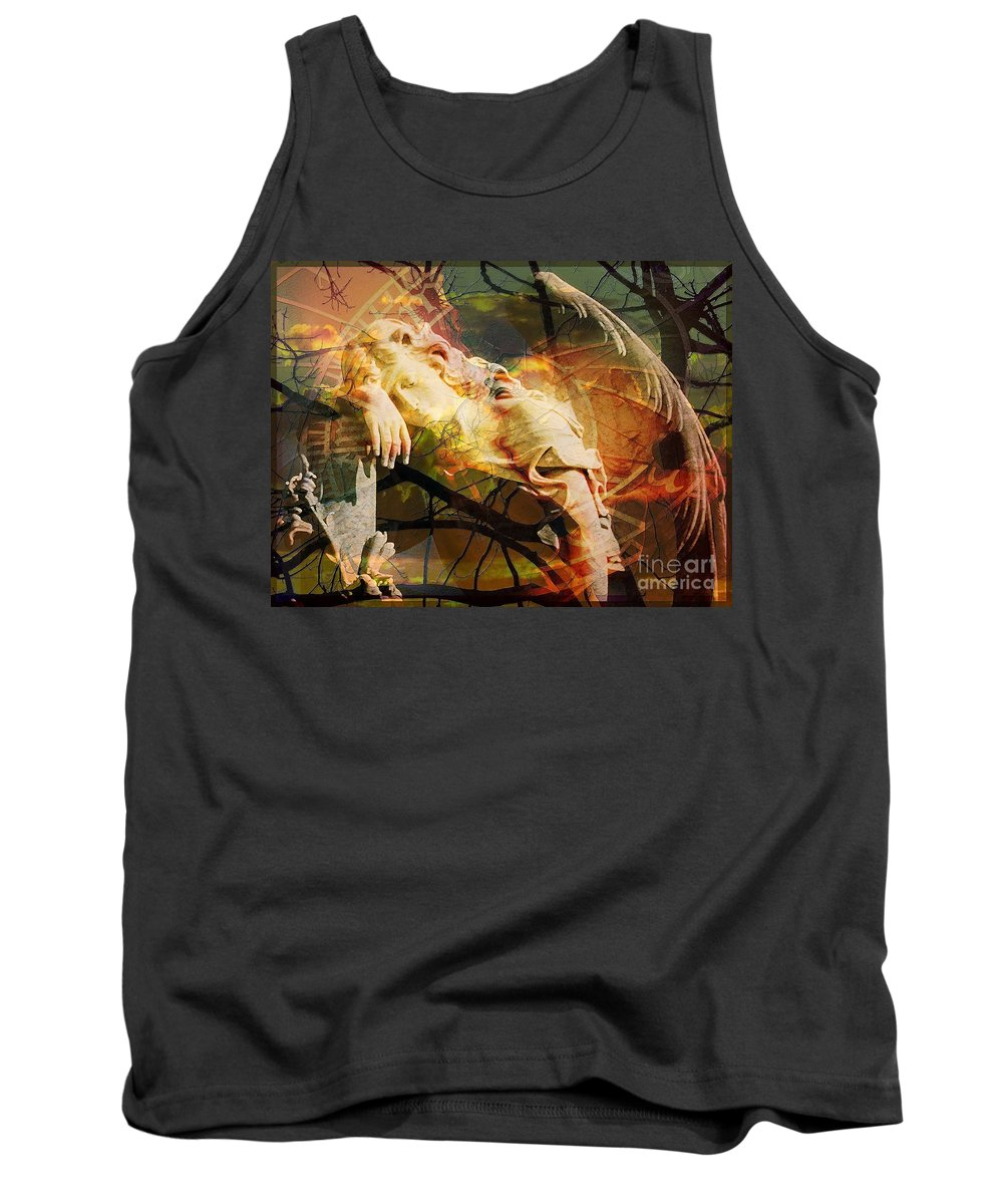 The Message Ignored Tank Top featuring the digital art The Message Ignored by Elizabeth McTaggart