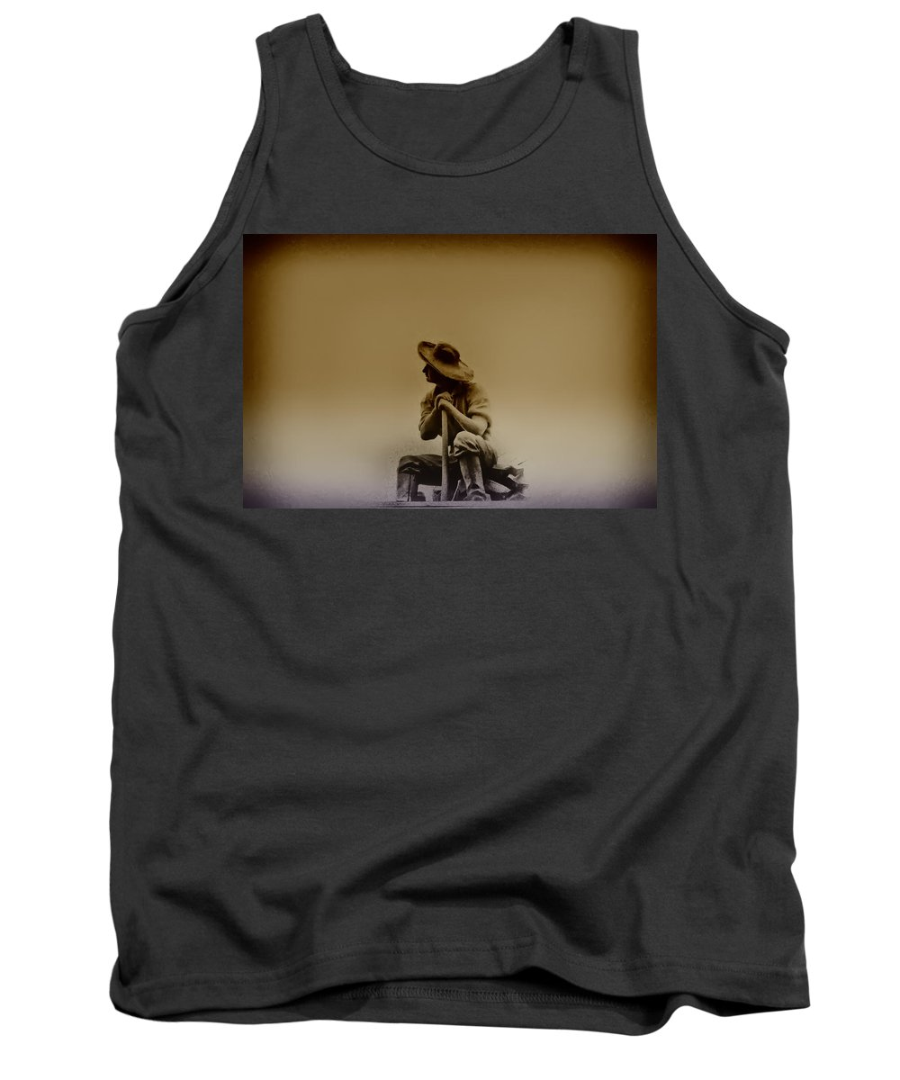 Philadelphia Tank Top featuring the photograph The Miner by Bill Cannon