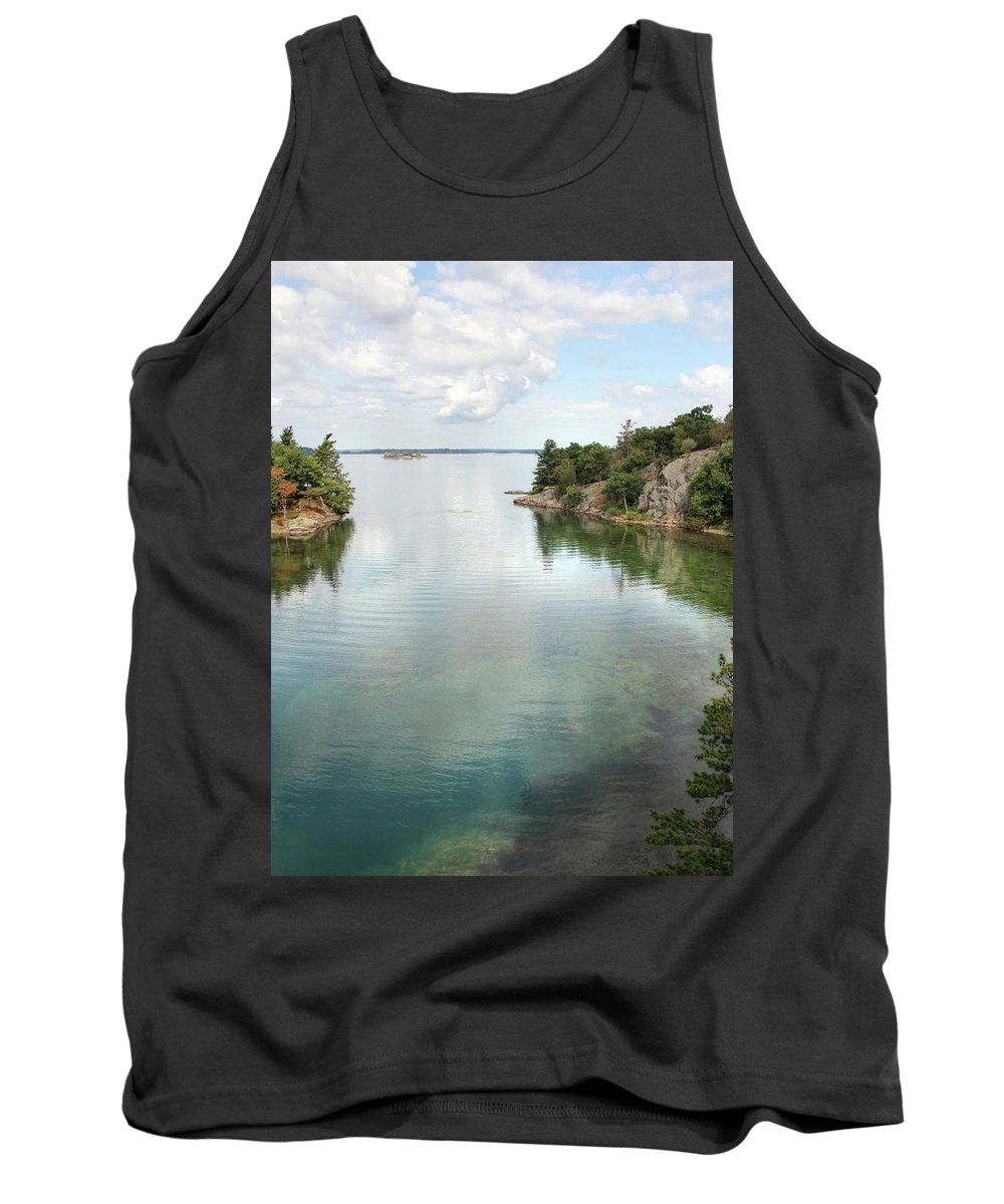 Thousand Islands Tank Top featuring the photograph The Narrows by Lori Deiter