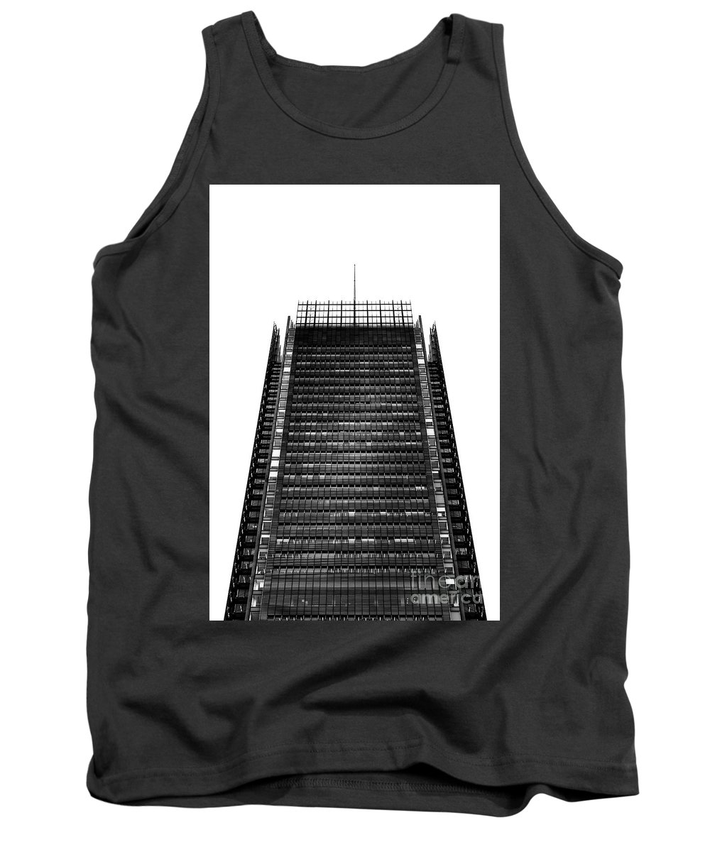 Symmetry Tank Top featuring the photograph The New York Times Building, Midtown New York by Edi Chen