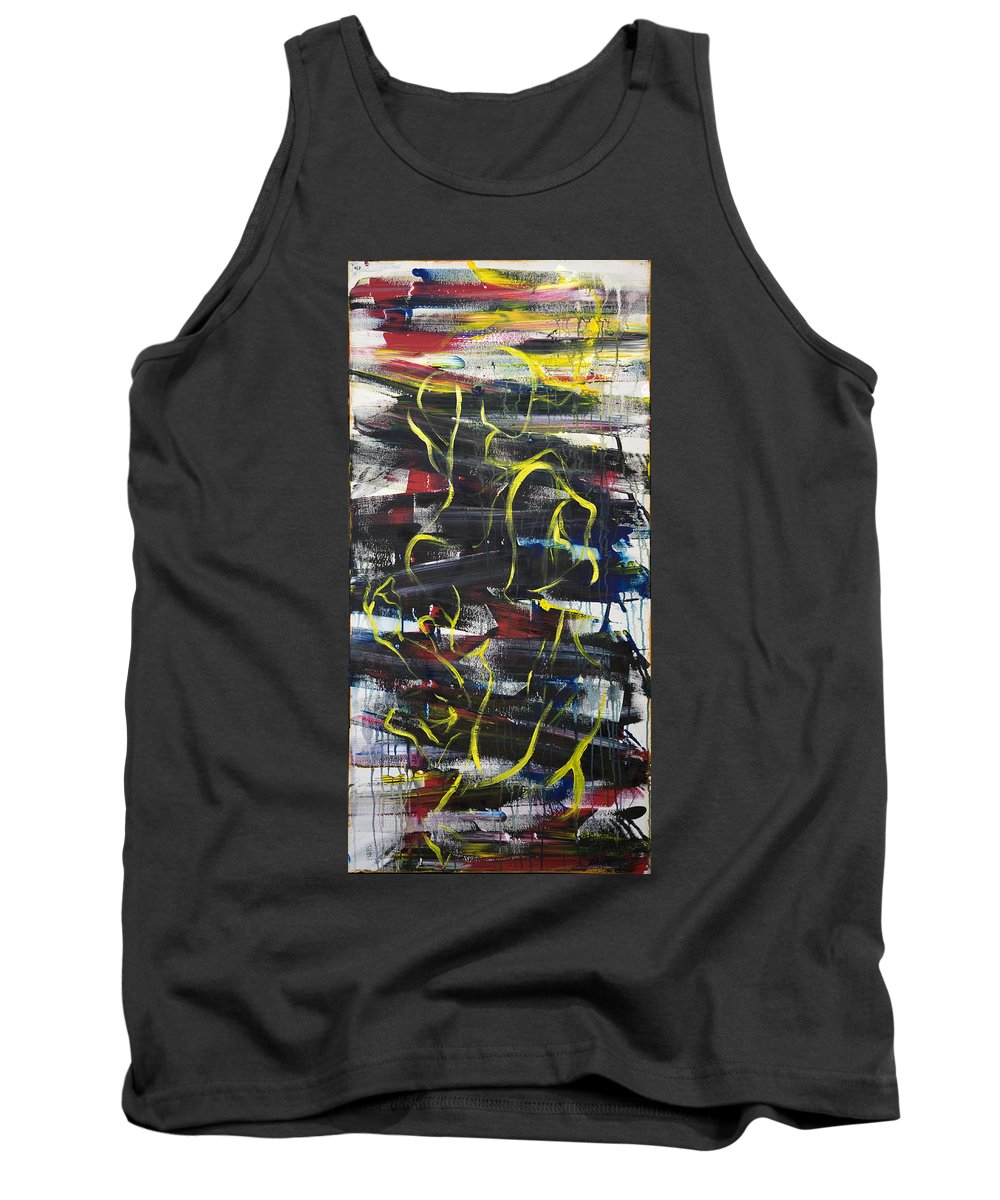Black Tank Top featuring the painting The Noose by Sheridan Furrer