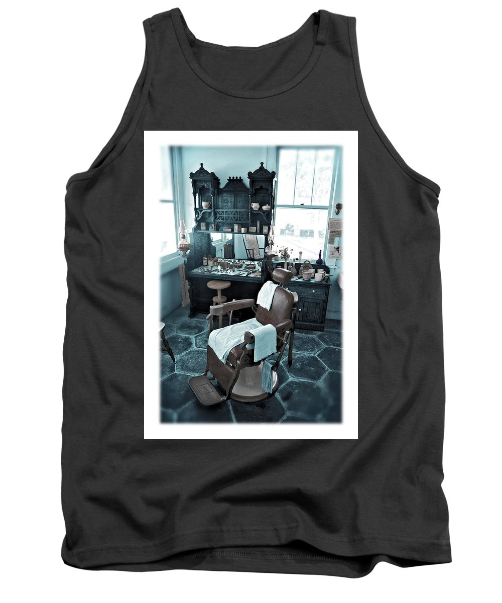 Barber Tank Top featuring the photograph The Old American Barbershop by Mal Bray