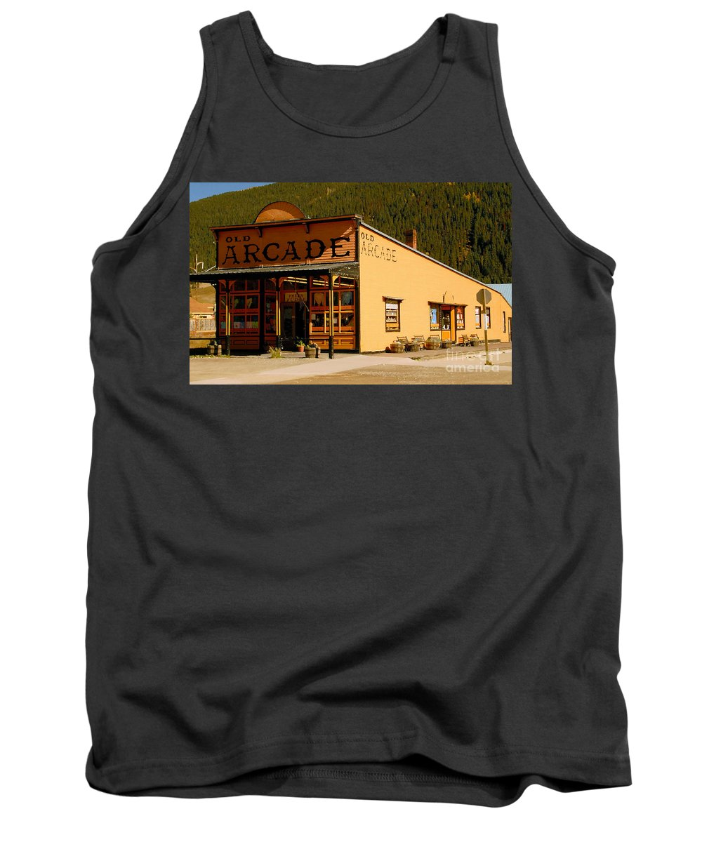 Arcade Tank Top featuring the photograph The Old Arcade by David Lee Thompson