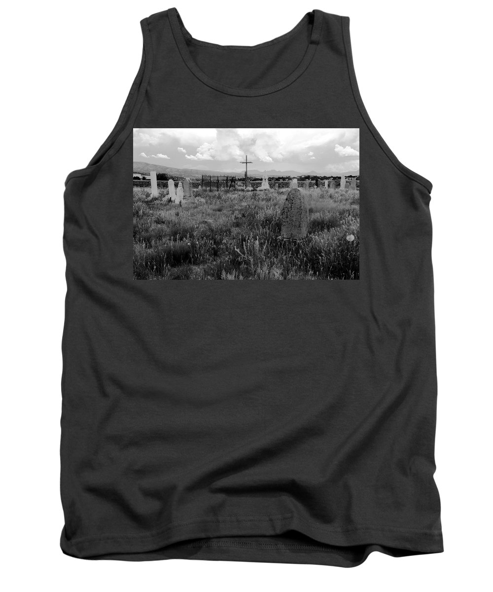 Galisteo New Mexico Tank Top featuring the photograph The Old Cemetery At Galisteo by David Lee Thompson