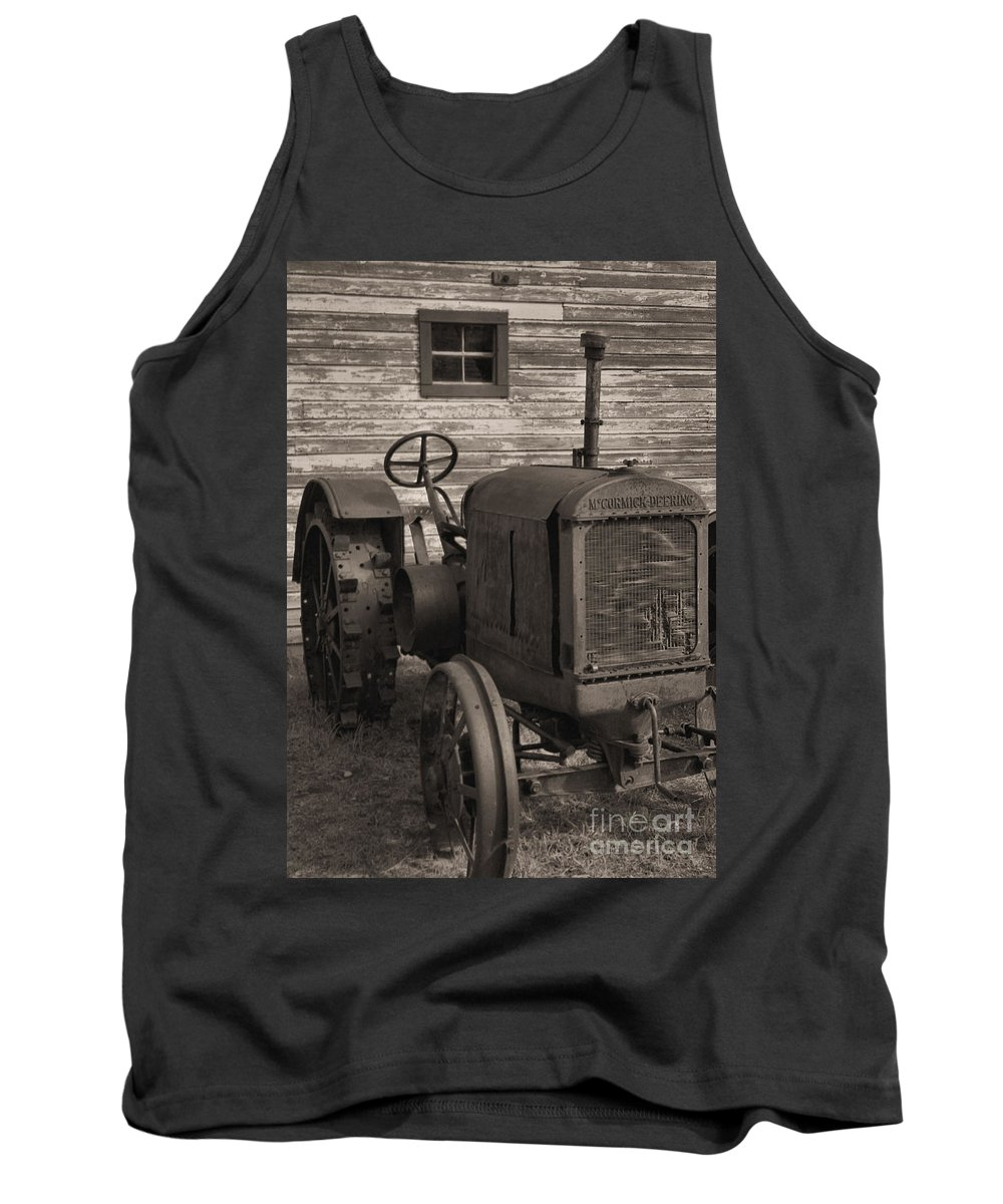 Abandoned Tank Top featuring the photograph The Old Mule by Richard Rizzo