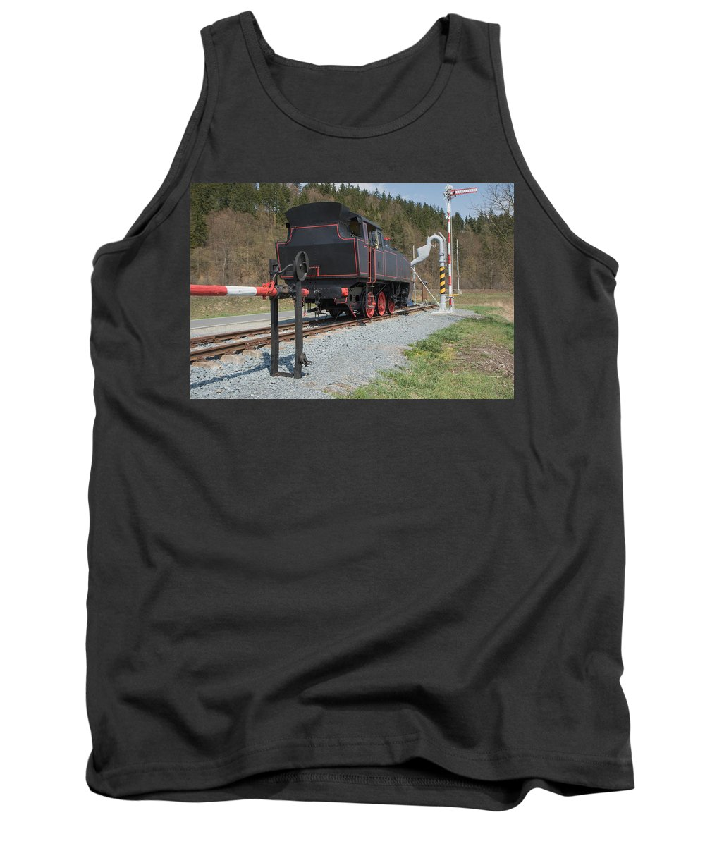 Railroad Tank Top featuring the photograph The Old Steam Locomotive by Jaroslav Frank