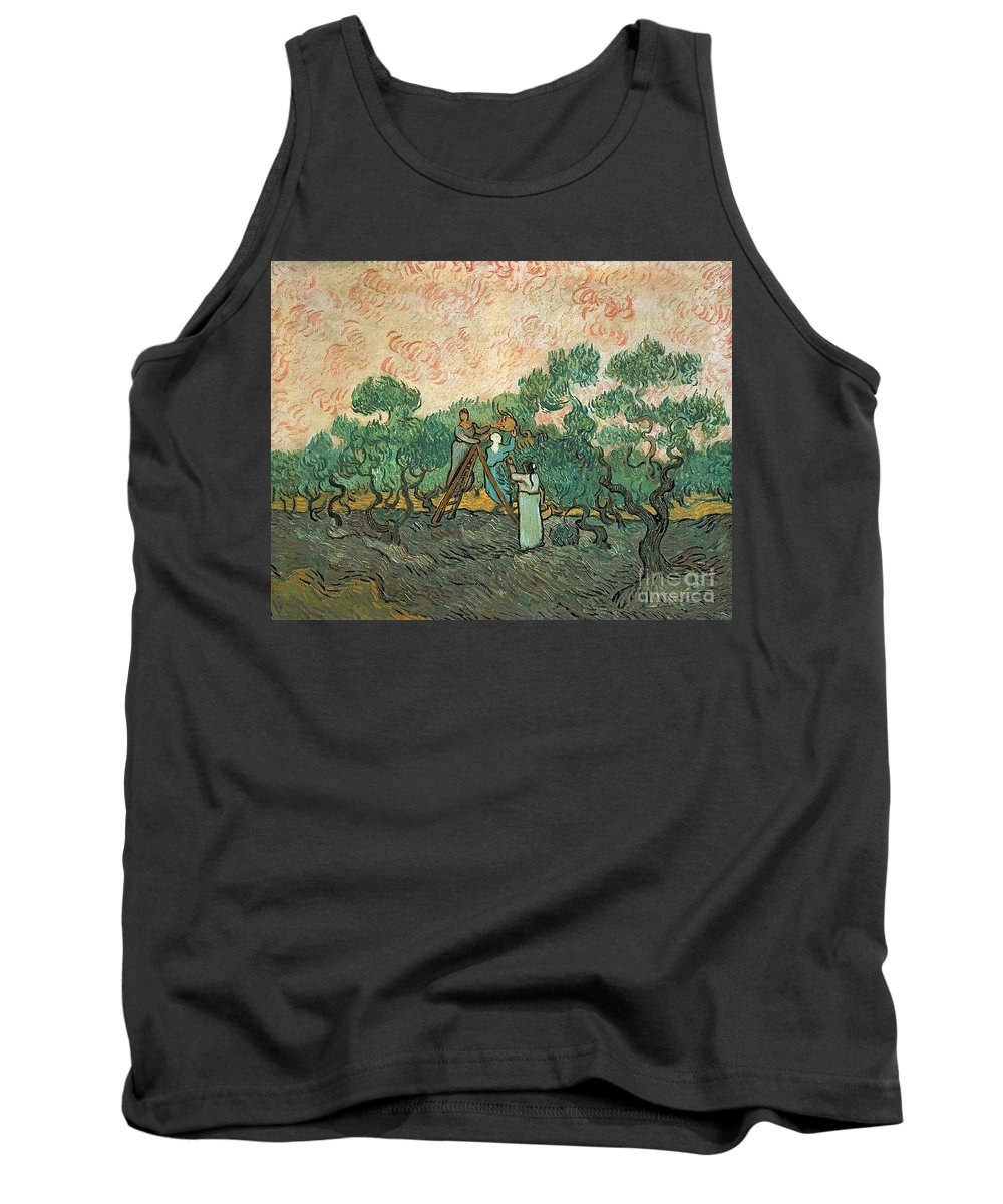 The Tank Top featuring the painting The Olive Pickers by Vincent van Gogh
