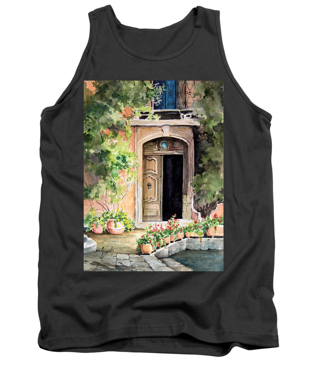 Door Tank Top featuring the painting The Open Door by Sam Sidders