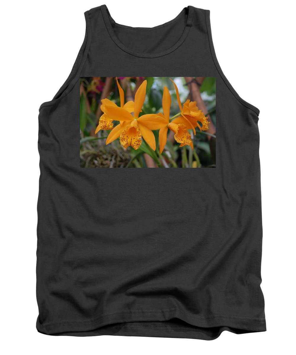 Macro Tank Top featuring the photograph The Orange Orchids by Rob Hans