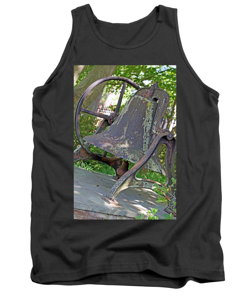 Oak Tank Top featuring the photograph The Original Bell Of Oak Hill Cemetery by Cora Wandel