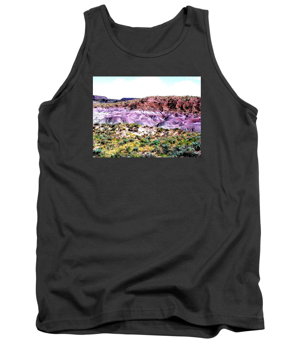 Painted Desert Tank Top featuring the photograph The Painted Desert In Arizona by Merton Allen