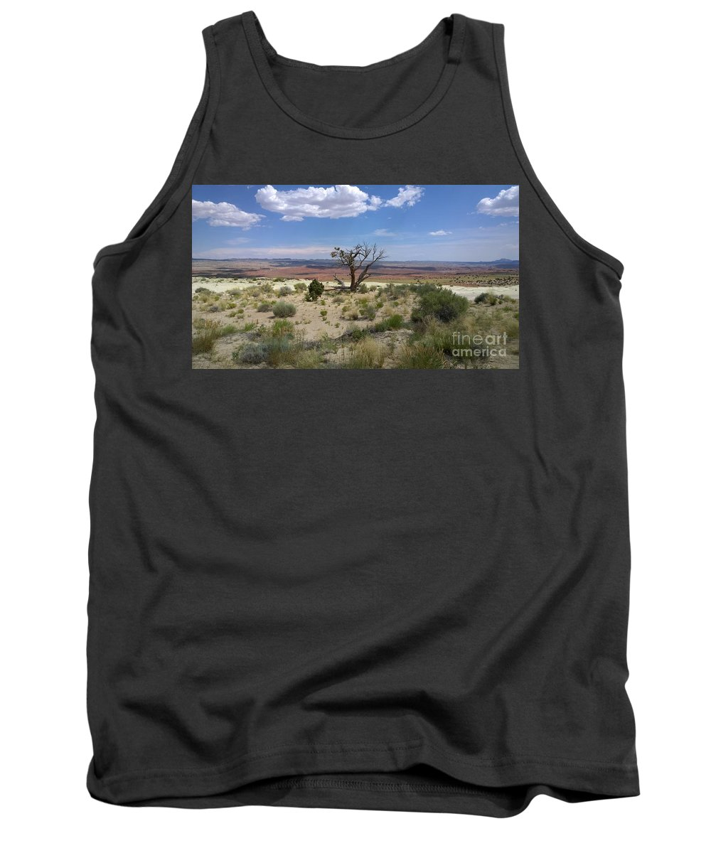 Pink Tank Top featuring the photograph The Painted Desert Of Utah 2 by Jennifer E Doll