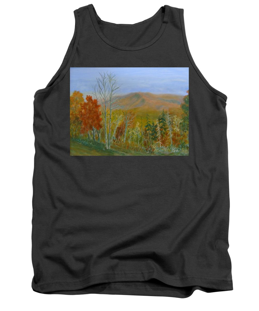 Mountains; Trees; Fall Colors Tank Top featuring the painting The Parkway View by Ben Kiger