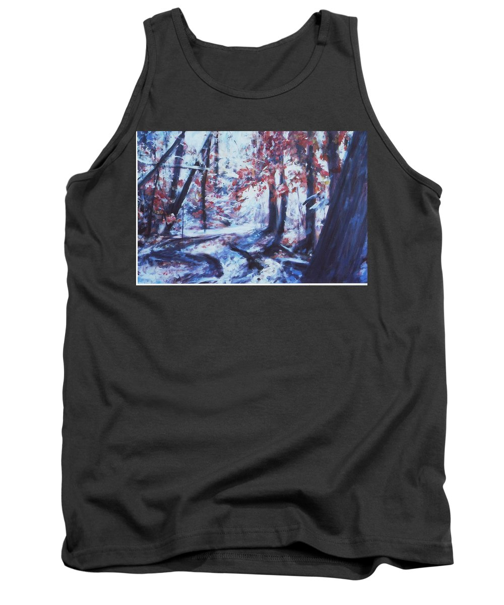Landscape Tank Top featuring the painting The Path by Sheila Holland