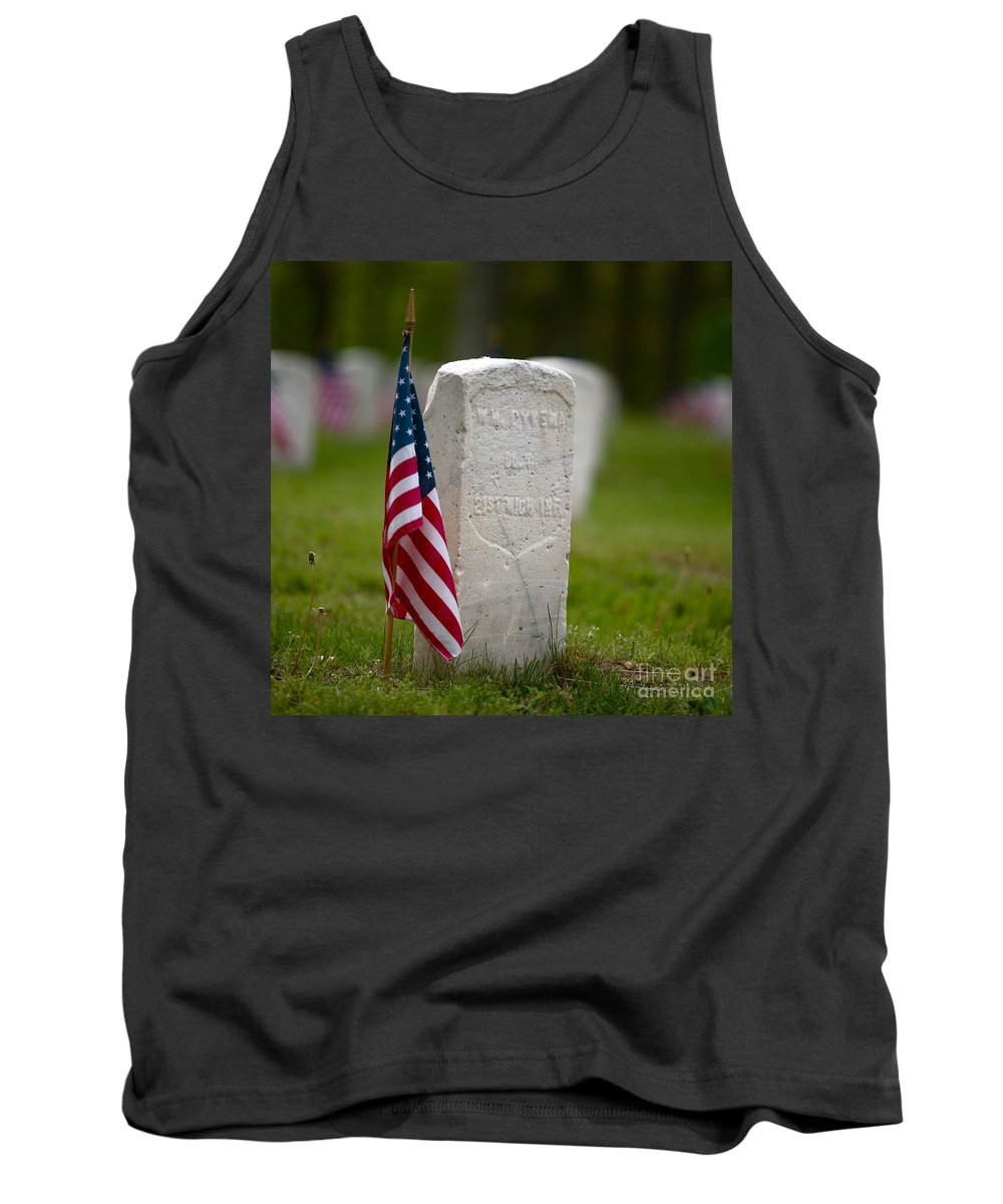 Grave Tank Top featuring the photograph The Price Of Freedom by Robert Pearson