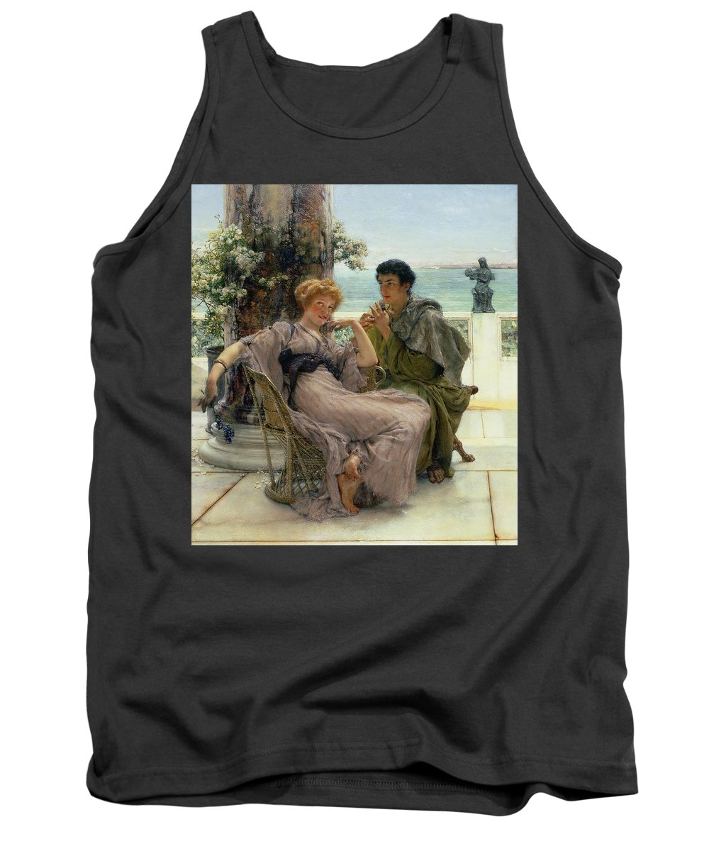 Courtship (the Proposal) 1892 (oil On Canvas) By Sir Lawrence Alma-tadema (1836-1912) Tank Top featuring the painting The Proposal by Sir Lawrence Alma Tadema