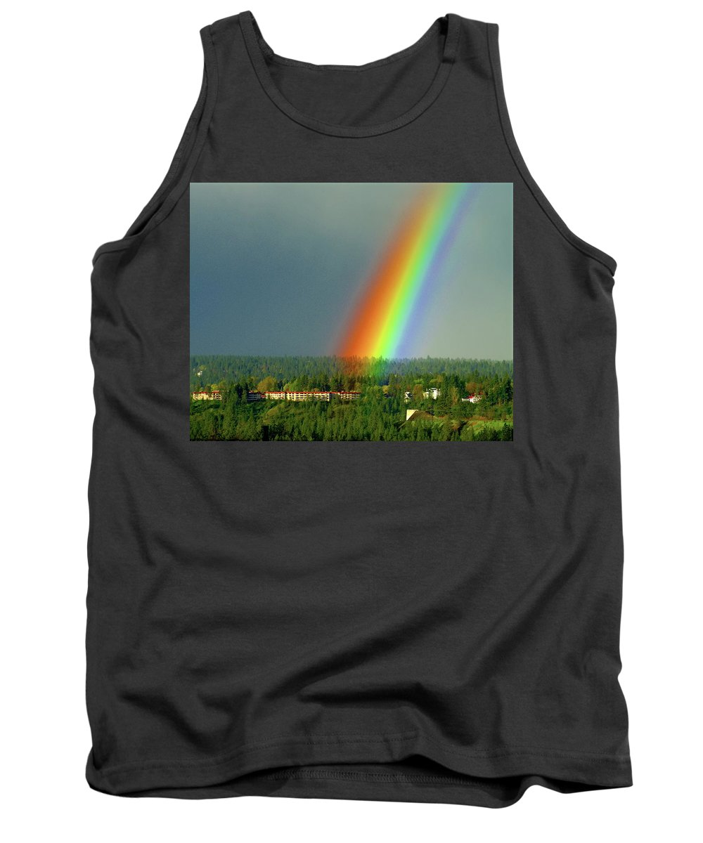 Nature Tank Top featuring the photograph The Rainbow Apartments by Ben Upham III