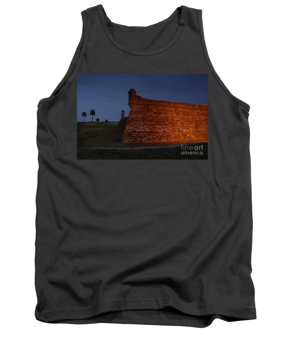 Castillo Tank Top featuring the photograph The Red Castillo by David Lee Thompson