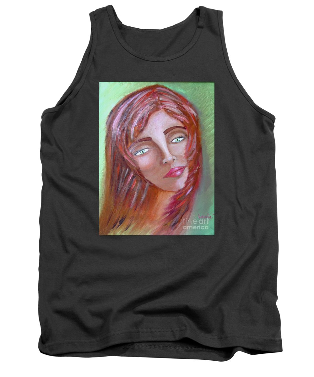 Redheads Tank Top featuring the painting The Redhead by Laurie Morgan